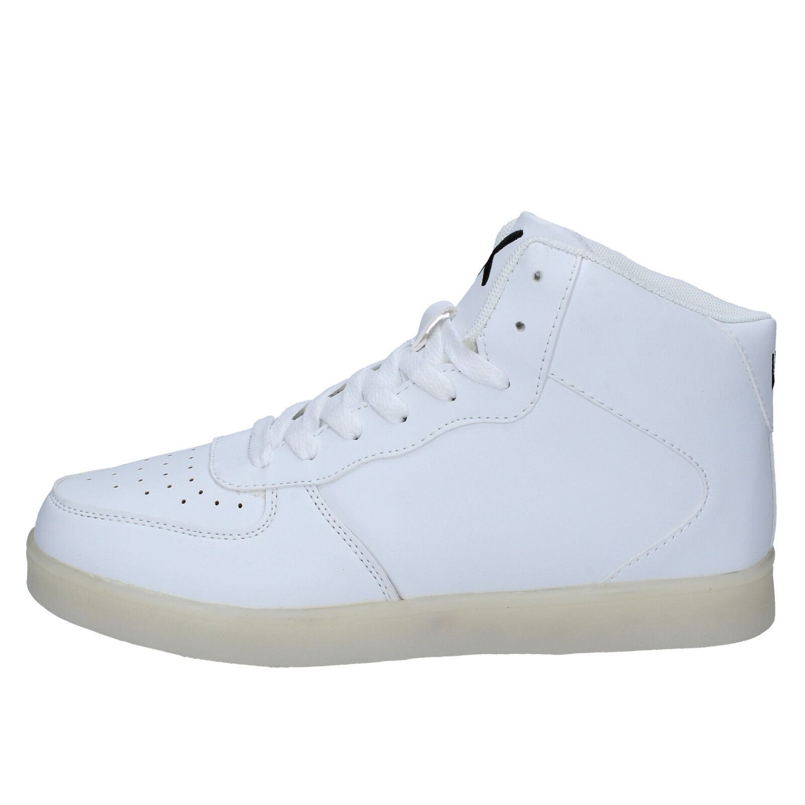 Mens shoes WIZE & OPE 6 () sneakers white leather BY890-40