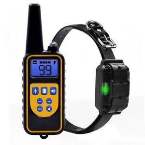 Perros-Corteza-de-entrenamiento-Collar-LCD-Remoto-Descarga-electrica-recargable