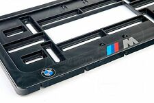 1x BMW M POWER LOGO EXCLUSIVE USA LICENSE NUMBER PLATE SURROUNDS HOLDER E36 E39