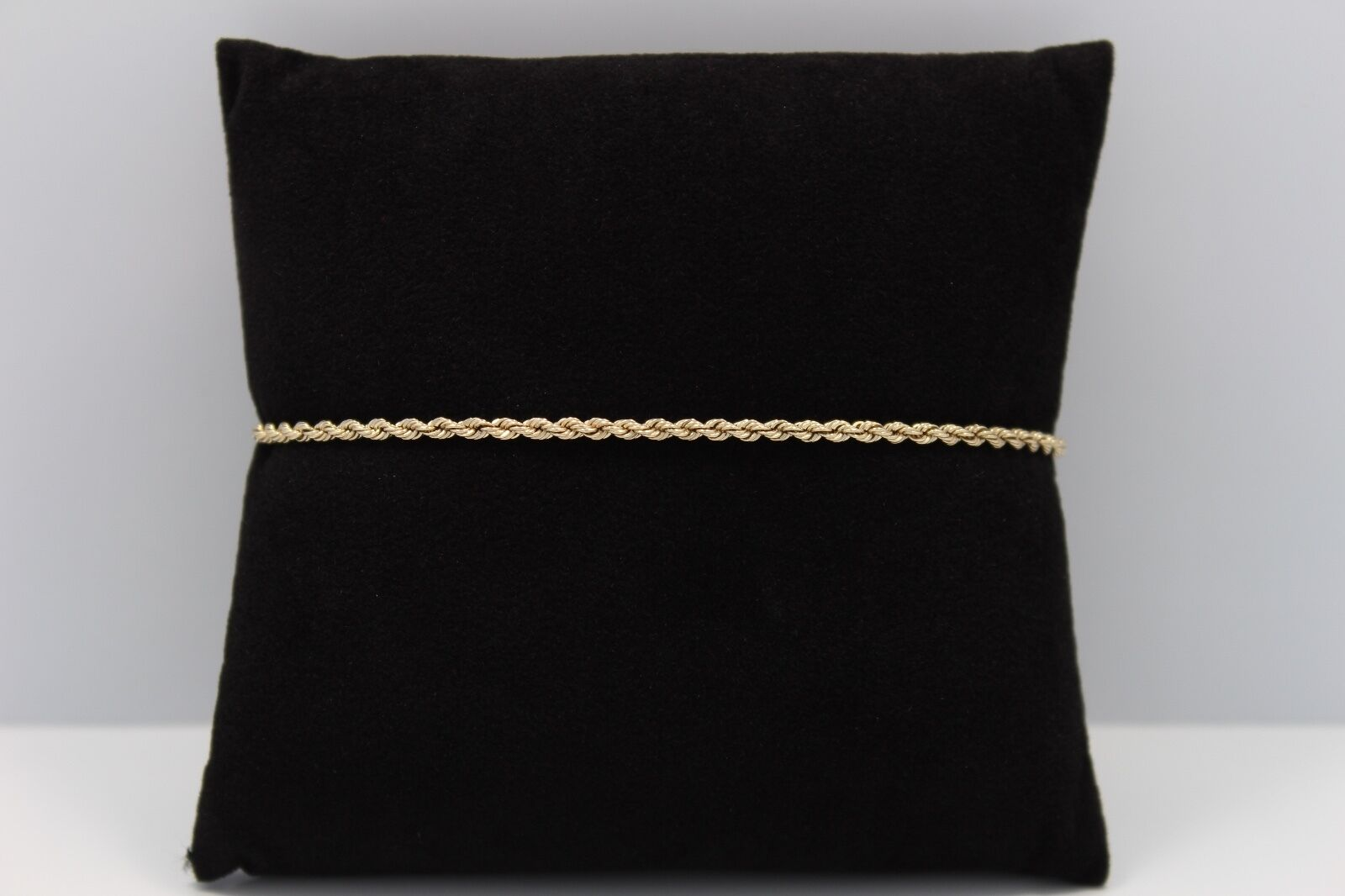 Beautiful Rope Chain Bracelet in 14k Yellow gold 7  Long