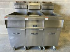 Vulcan 1gr45m 3 Bay Natural Gas Deep Fat Fryer Works Great Nice Unit