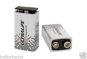 1x ULTRALIFE 9V Lithium Blockbatterie U9VL-J-P (Bulk) MN1604 Rauchmelder