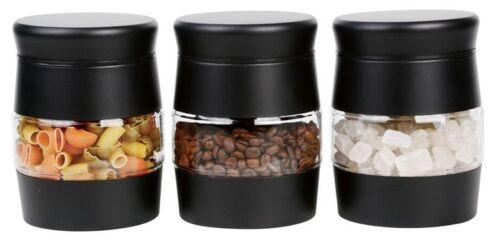 3pcs Glass Storage Jar Set Multiples Storage Essential Canister Jar Kitchen
