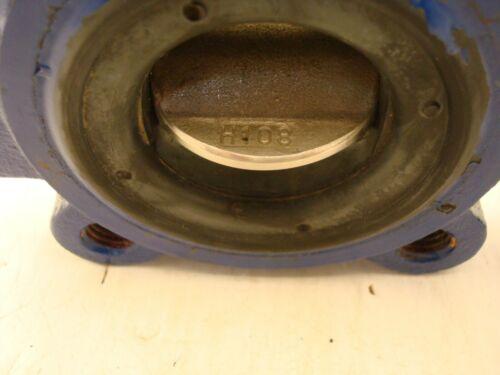 """KEYSTONE 222 2/"""" 250 PSI BUTTERFLY VALVE EPDM BODY C1 DISC 304SS STEM 416SS"""