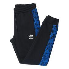 adidas Originals BL Floral Trackpant (Cuff) Size 6 Black RRP £50 BNWT AO3021