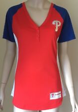 13ff2bf5c item 2 Philadelphia Phillies Size M Majestic Red League Diva Snap Placket T- Shirt NWT -Philadelphia Phillies Size M Majestic Red League Diva Snap  Placket ...