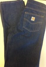 Carhartt Flame Resistant Jeans Dungaree Pants Denim 30 X 36 FRB100DNM NEW