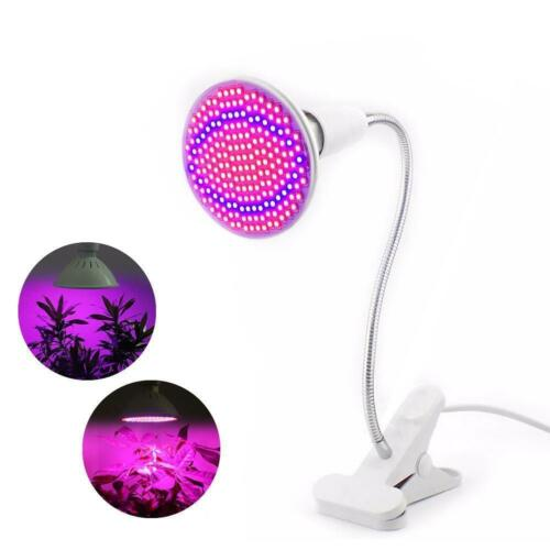 12W 85-265V E27 200LED Plant Grow Light Lamp Bulb For Indoor Plants With Clip WT