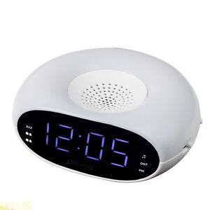 digital table dual alarm clock fm radio night light sleep timer snooze dst hot ebay. Black Bedroom Furniture Sets. Home Design Ideas