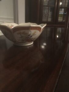 Rare-Vintage-Satsuma-Porcelain-7-034-Bowl-Peacock-Floral-Design-Japan-Gold-Trim