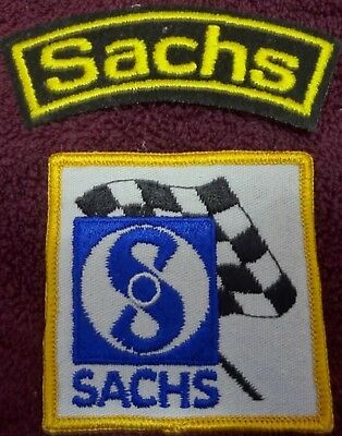 2 different Vintage Sachs Motorcycle Patches 70/'s NOS