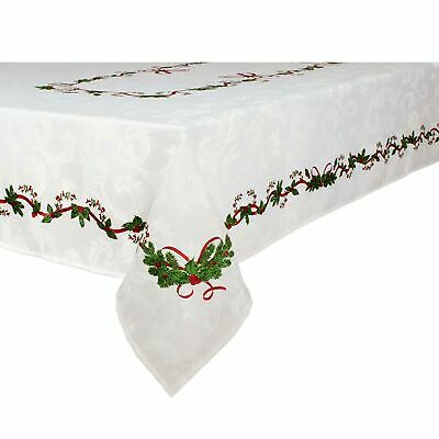 6 Stain Resistant Jacquard Table Cloth Assorted Designs 150 x 270cm Rectangle