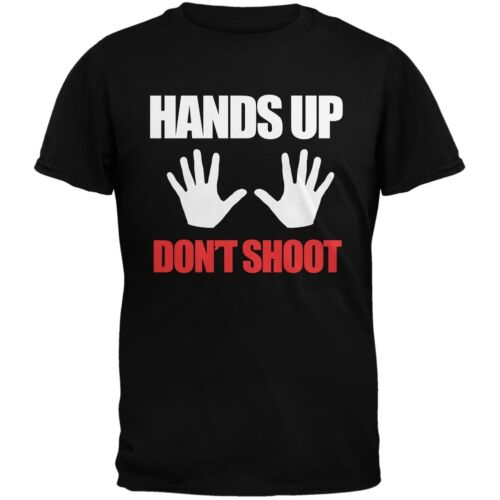 Hands Up Don/'t Shoot Black Adult T-Shirt