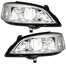 Chrome clear finish halogen headlights front lights set for Opel Astra G 98-05