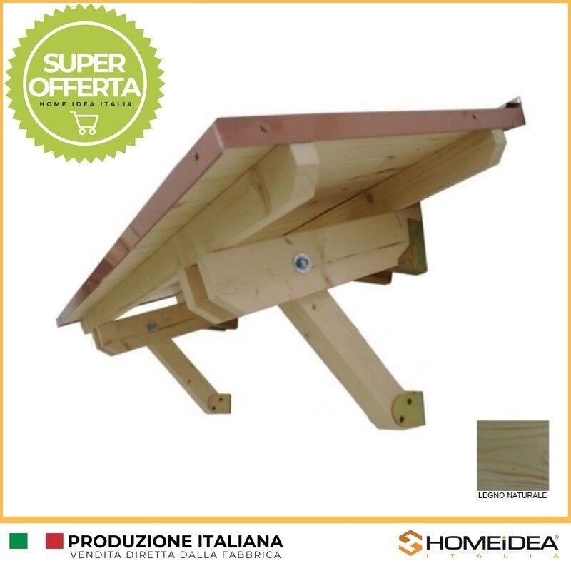 Pensilina tettoia legno in abete massello Varie Misure con sporgenza 60 cm