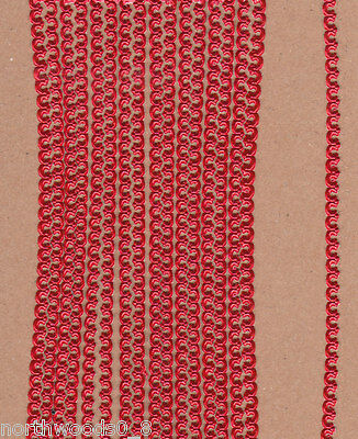 METALLIC RED MINI SCROLL FLEUR XSMALL 1//16 BORDER DRESDEN GERMAN PAPER FOIL TRIM