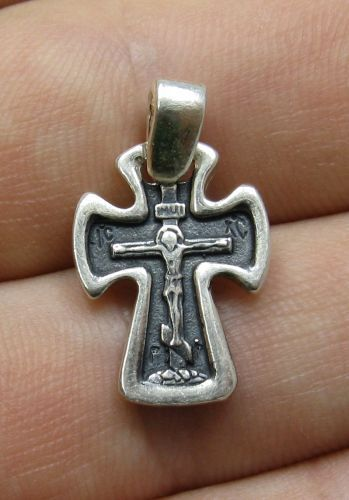 STERLING SILVER PENDANT SOLID 925 ORTHODOX CROSS NEW