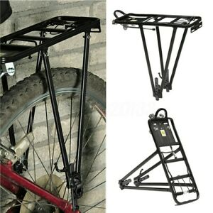 Back Rear Rack Alloy Bike Bicycle Seat Post Frame Carrier Holder Cargo Racks