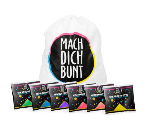 Mikrokonfetti Set Rucksack 6 Farben inkl