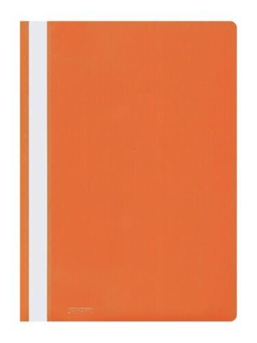25 Schnellhefter PP Kunststoff Hefter orange
