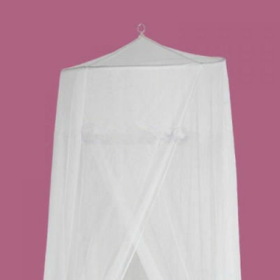 White Halo Mosquito Net Canopy for Baby Cot Crib Toddler Nursery room netting