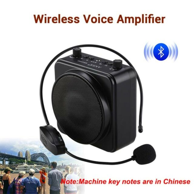 AKER Bluetooth Voice Booster Amplifier Speaker With UHF Mireless Mic For Teacher