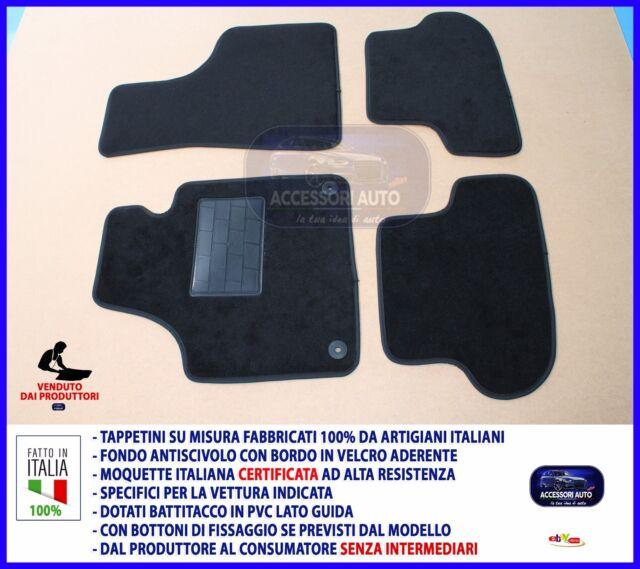 Tappetini moquette auto per Audi A3 tre porte 2003> 2012 tappeti con bottoni