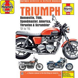 4364 Triumph Bonneville T100 America Speedmaster 2001 15 Haynes