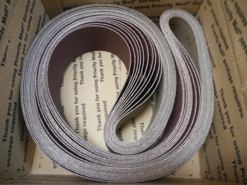 """10 Cora 3/"""" X 88-5//8/"""" P36 Grit Sanding Belts A//O Resin Cloth FREE SHIPPING"""