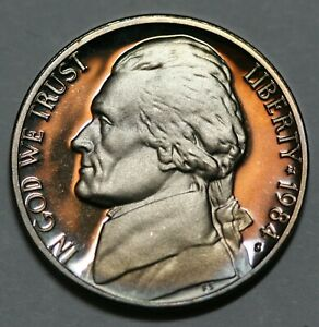 1984-S  Deep Cameo  Jefferson Nickel  US GEM  Proof Coin