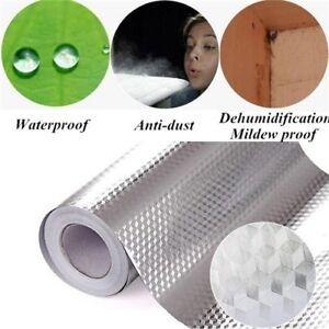 Aluminum Foil Self Adhesive Wall Sticker Stickers Oil Waterproof Kitchen Cabinet