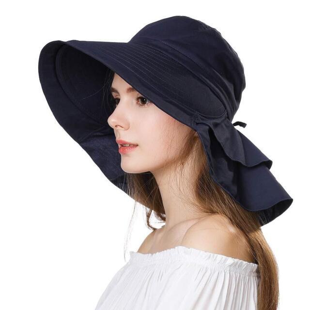 Siggi Summer Bill Flap Cap SPF 50 Cotton Sun Golf Hat with Neck Cover Cord 4707fbdf5b1