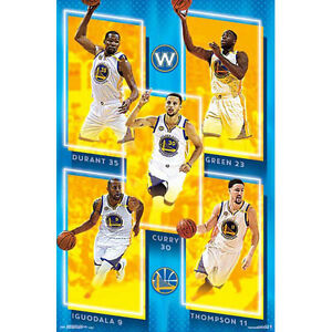 Golden State Warriors - Team 2016 POSTER 57x86cm NEW * NBA Durant Curry Iguodala