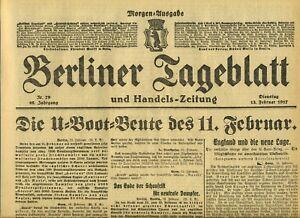1917-BERLINER-TAGEBLATT-WWI-Die-U-Boot-Leute-Wien-Erfolge-der-Truppen-in-Tirol