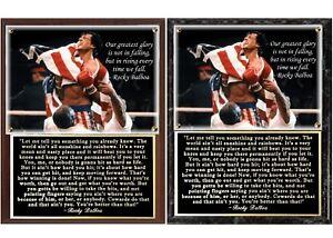 Details About Rocky Balboa Inspirational Speech Photo Plaque