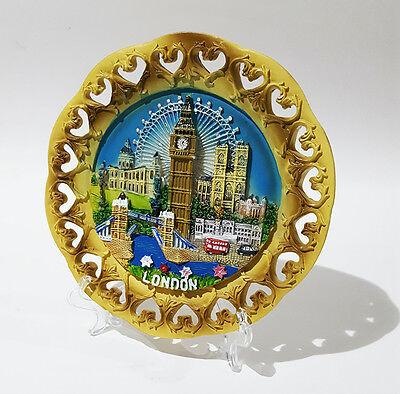 NEW London Souvenir Decorative Plate Cut Out Detailing London Skyline UK Seller