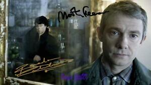 Benedict-Cumberbatch-Martin-Freeman-Sherlock-Signed-10X8-RePro-Photo-Print