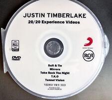 Justin Timberlake 5 music videos DVD suite &Tie, Mirrors, TKO 20/20 experience