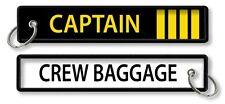 Captain (4 bars)-Crew Baggage keychains x2