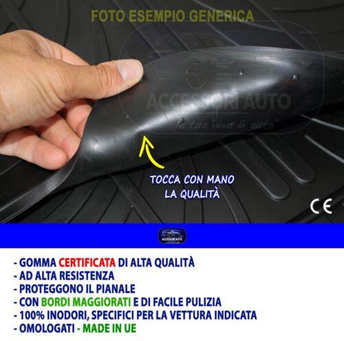 Tappetini Fiat Panda Cross 2014/> Gomma Tappeti auto Pedana Proteggi Baule