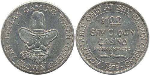 1979 SHY CLOWN CASINO $1 TOKEN Sparks Nevada Collectible Token *