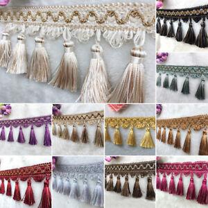 1M-5M-Tassel-Fringe-Trim-Sewing-Crafts-Trimmings-Edging-Curtains-Cushion-Ribbon