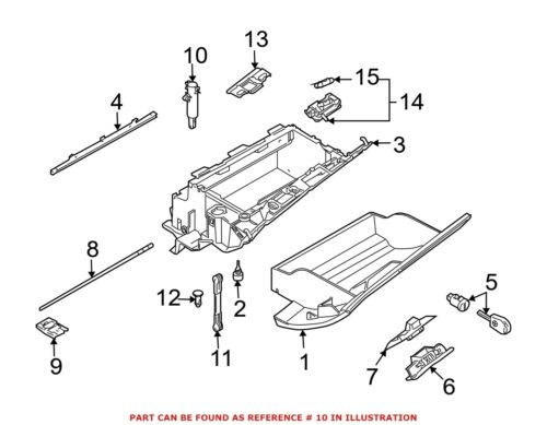 For BMW Genuine Glove Box Support Front 51168224806