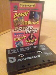Details about Commodore 64 C64 POWERPACK TAPE 15   two full games and two  demos