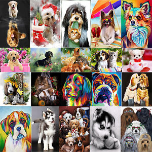 Dog Animal DIY 5D Diamond Painting Embroidery Cross Craft Stitch Art Kits Decor