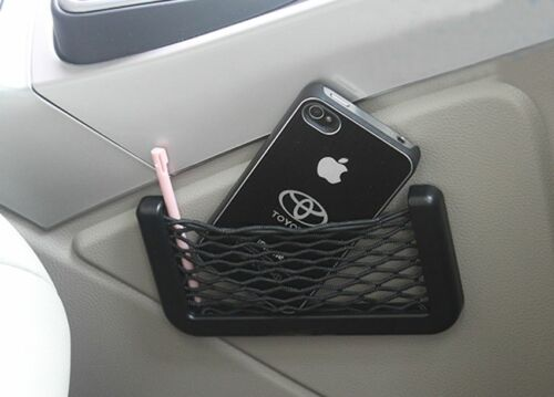 Car Black Dashboard//Side Storage Net String Pouch Bag GPS Mobile Cards Organizer