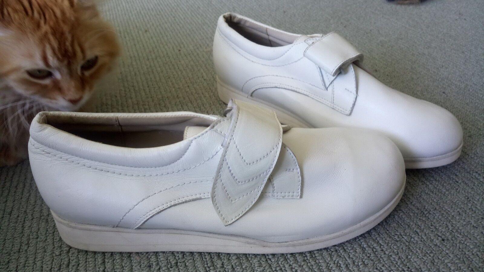 elementi di novità Comfort & Fit Fit Fit bianca Leather walking casual scarpe 8.5 E  garantito