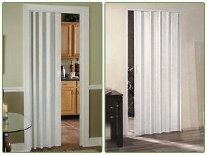Vinyl Accordion Door Durable Flexible Closet Entryway Home 36 X 80 White Ebay