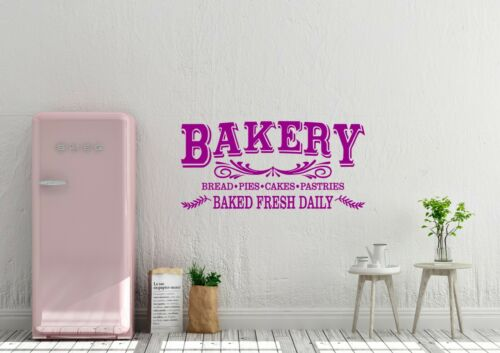 Bakery Baked Fresh Inspired Design Farmhouse Decor Wall Art Decal Vinyl Sticker