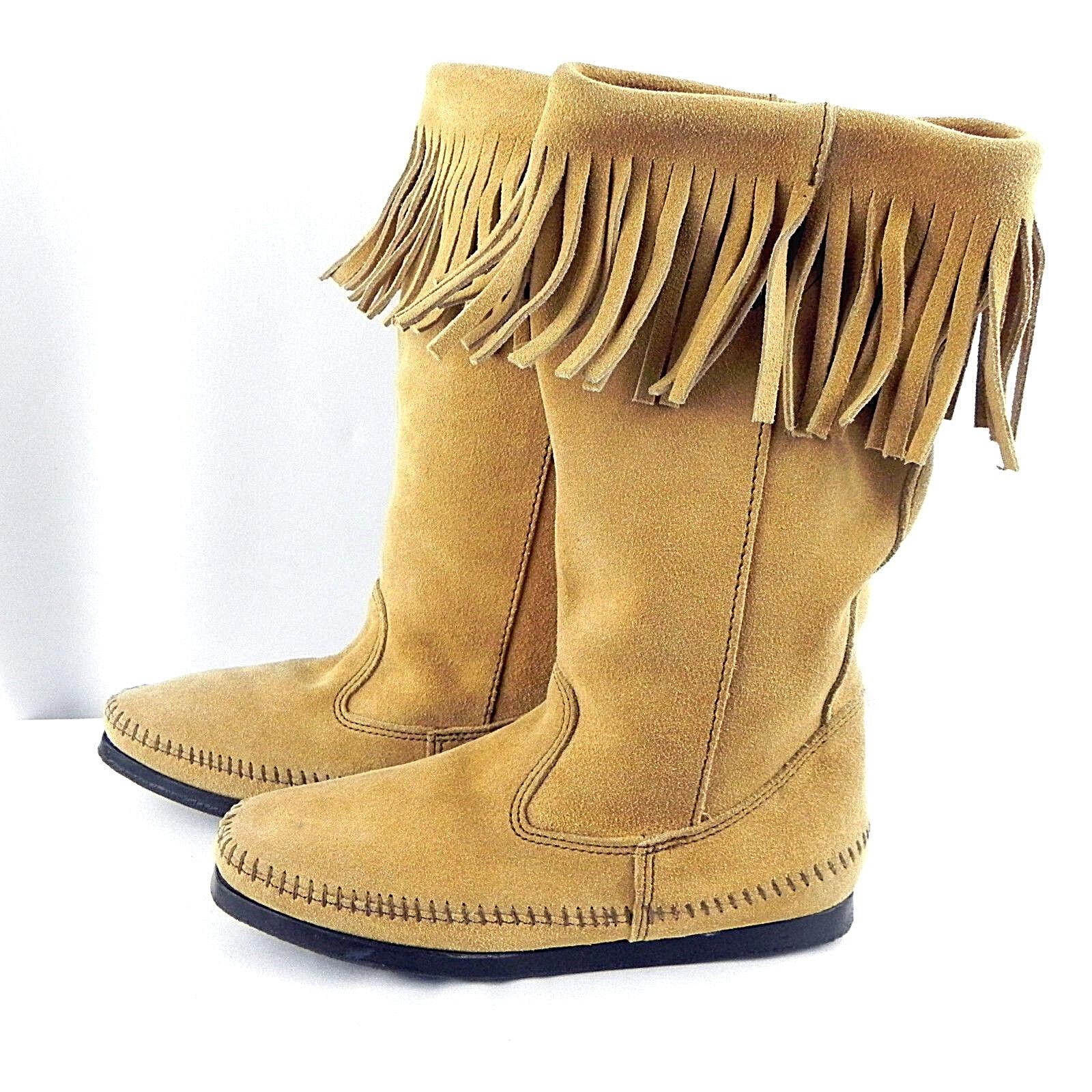 botas con flecos de de de gamuza para mujer 7 Minnetonka moccasins  grandes ahorros